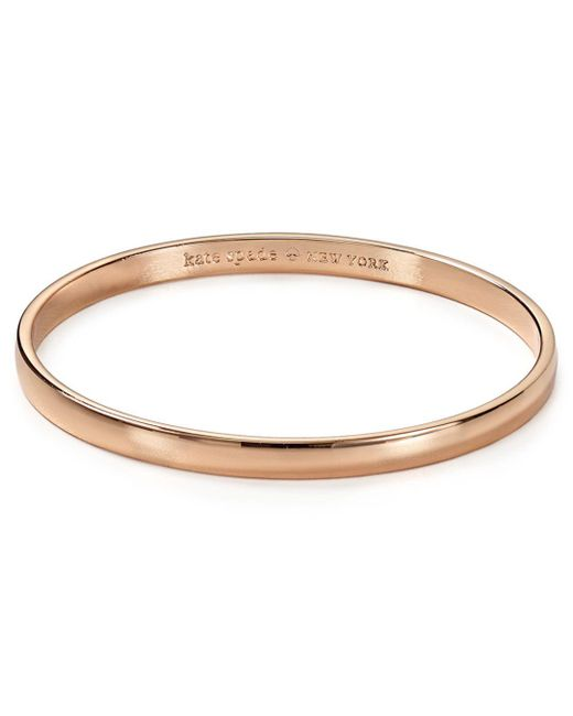Kate Spade - Pink Stop And Smell The Roses Idiom Bangle - Lyst