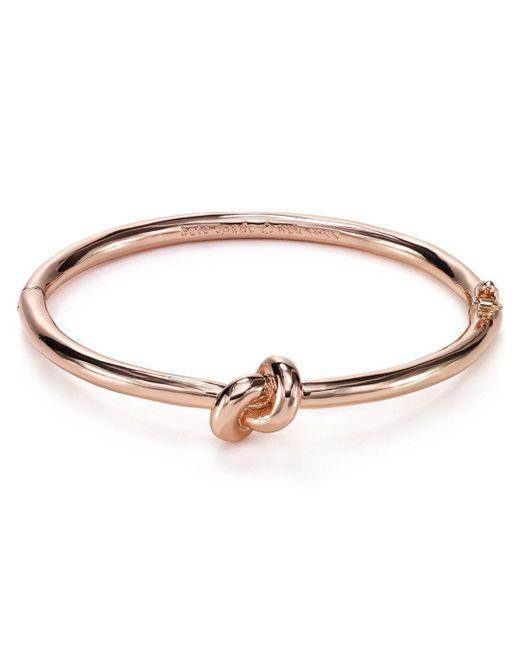 Kate Spade - Metallic Sailor's Knot Hinge Bangle - Lyst