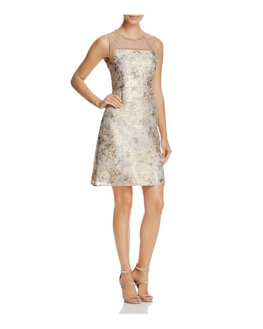 Elie Tahari | Multicolor Vera Illusion Brocade Dress | Lyst