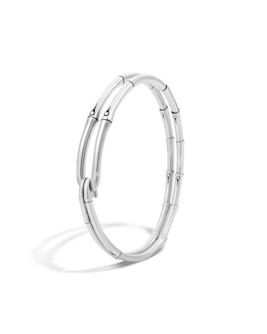 John Hardy - Metallic Bamboo Silver Hook Bracelet - Lyst