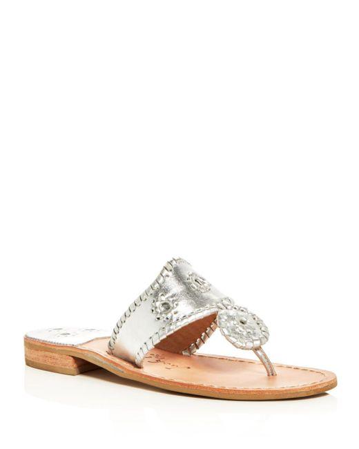 Jack Rogers - Hamptons Metallic Thong Sandals - Lyst