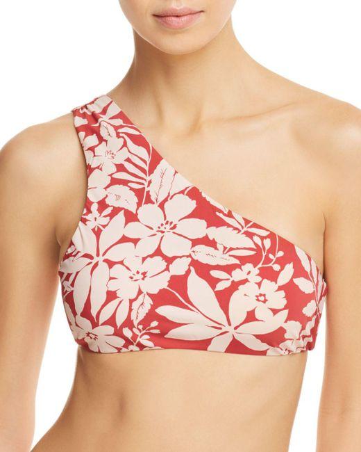 Red Carter - Shirred One-shoulder Bikini Top - Lyst