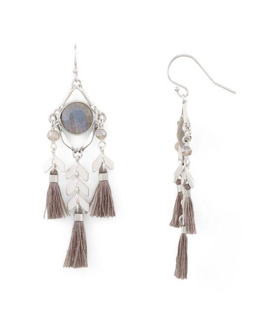 Chan Luu - Multicolor Tassel Drop Earrings - Lyst