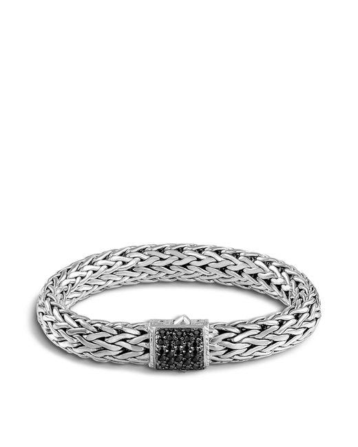 John Hardy | Metallic Classic Chain Sterling Silver Lava Large Bracelet With Black Sapphire | Lyst