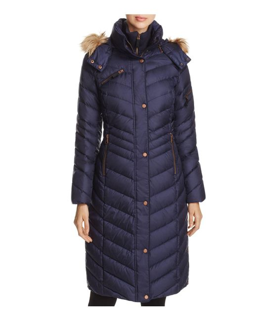 Marc New York | Blue Rachael Maxi Puffer Coat | Lyst