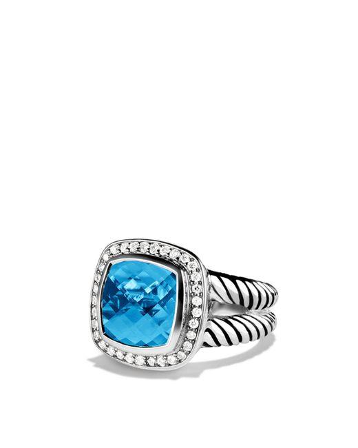 David Yurman - Metallic Albion Ring With Blue Topaz & Diamonds - Lyst