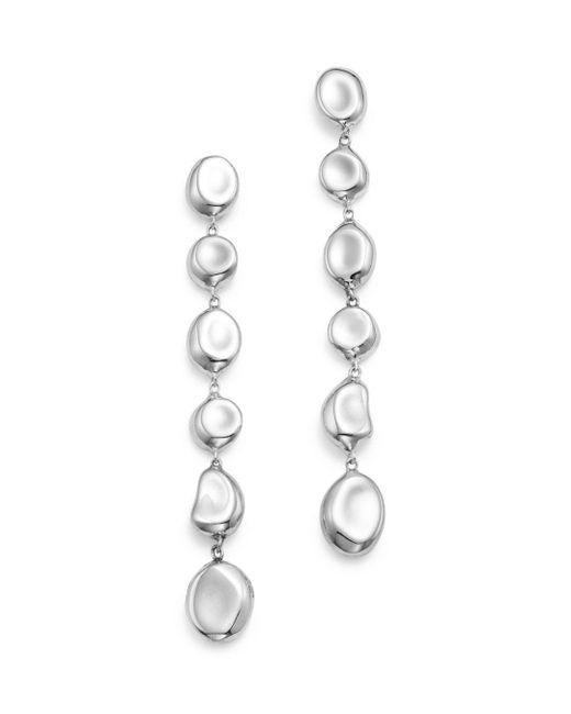 Ippolita - Metallic Sterling Silver Glamazon® Linear Pebble Earrings - Lyst