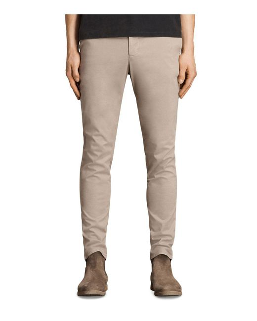 AllSaints | Natural Park Slim Fit Chinos for Men | Lyst