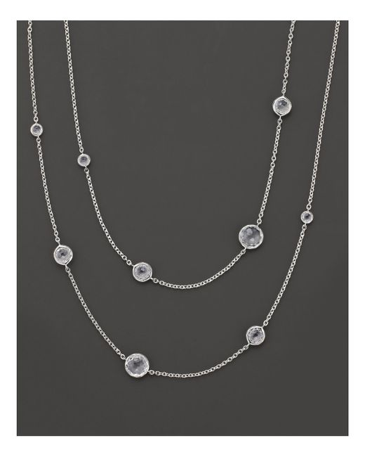 Ippolita | Metallic Sterling Silver Rock Candy® Lollipop Necklace In Clear Quartz | Lyst