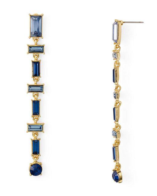 Aqua - Multicolor Baguette Linear Drop Earrings - Lyst