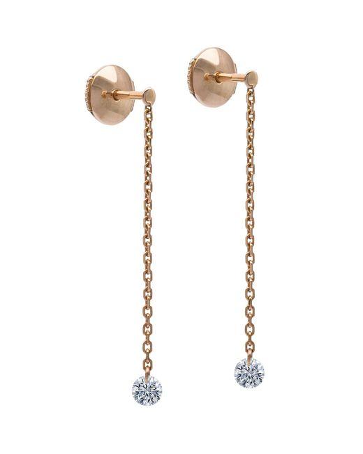 La Brune Et La Blonde | Metallic 18k Rose Gold 360 Diamond Drop Earrings | Lyst