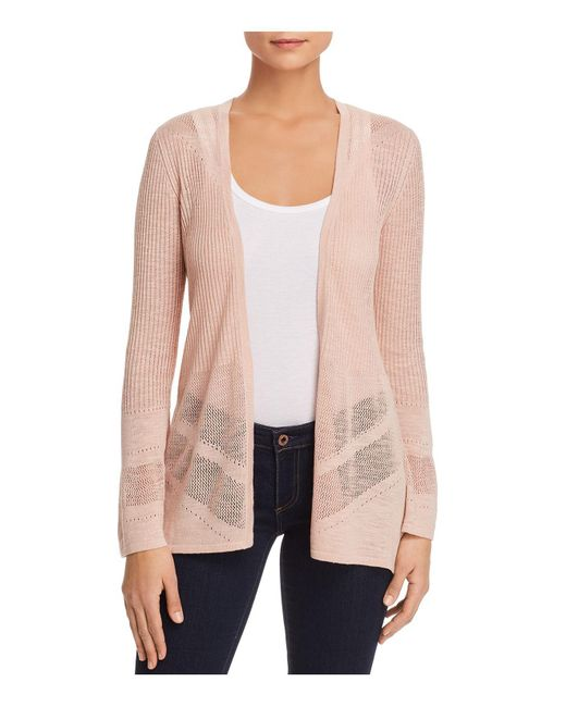 Avec | Pink Lightweight Split-back Cardigan | Lyst