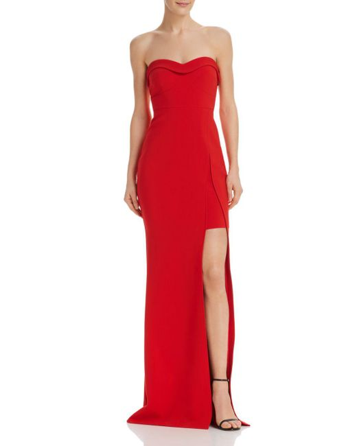 Likely - Red Ella Strapless Gown - Lyst