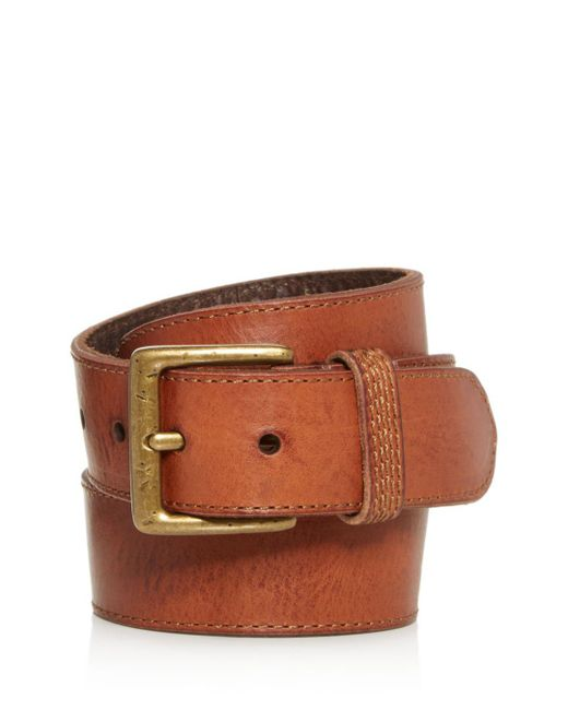 Frye - Brown Bowery Leather Belt for Men - Lyst