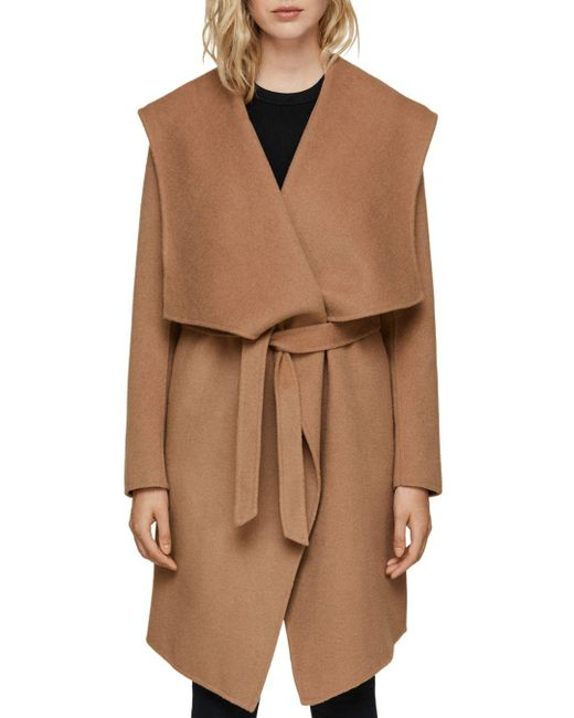 SOIA & KYO - Brown Exaggerated Shawl Collar Coat - Lyst