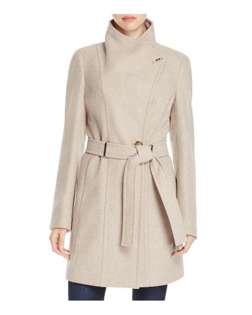 CALVIN KLEIN 205W39NYC - Natural Toggle Wrap Coat - Lyst