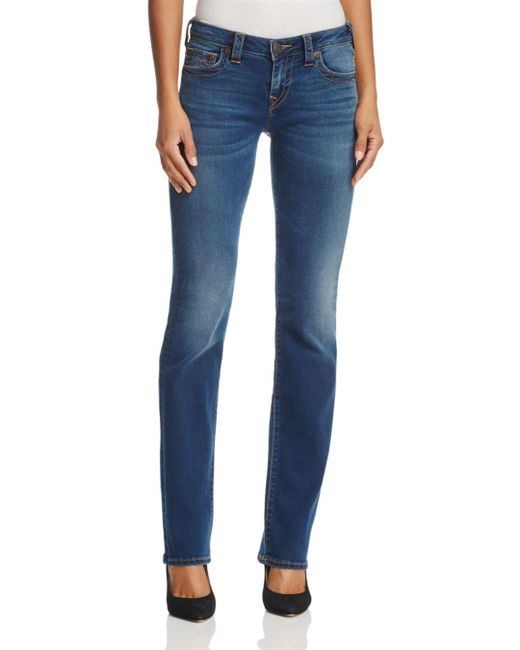 True Religion Billie Straight Jeans In Tried 'n' True Blue