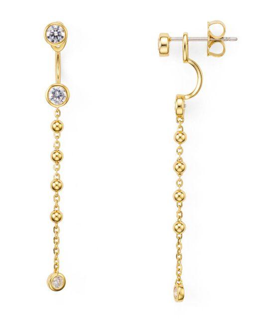 Nadri - Metallic Linear Front-back Earrings - Lyst