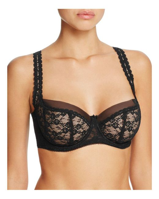 Dita Von Teese | Black Sheer Witchery Full Figure Bra | Lyst