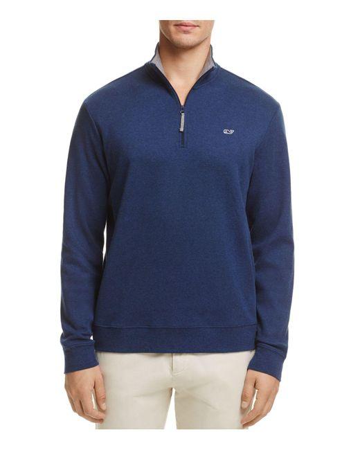 Vineyard Vines | Blue Quarter-zip Cotton Sweater for Men | Lyst