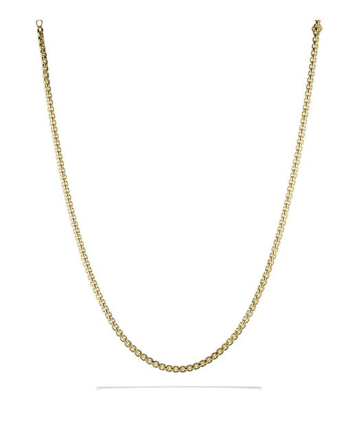 David Yurman | Yellow Medium Box Chain In Gold | Lyst