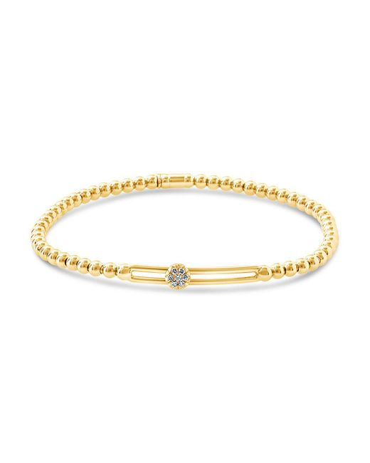 Hulchi Belluni | Metallic 18k Yellow Gold Tresore Diamond Single Station Stretch Bracelet | Lyst