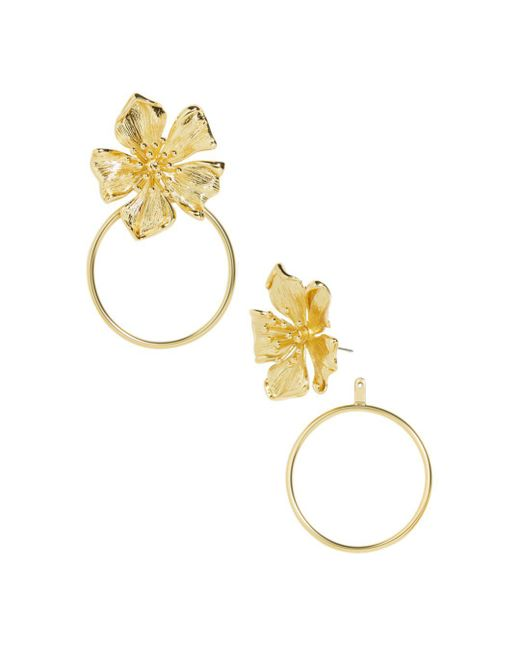 BaubleBar - Metallic Penthia Floral Loop Drop Earrings - Lyst