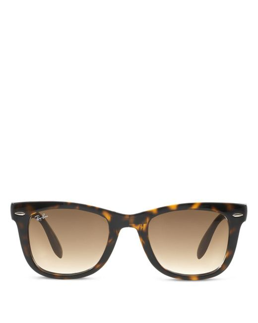 Ray-Ban - Brown Sunglasses, Rb4105 Folding Wayfarer 50 - Lyst
