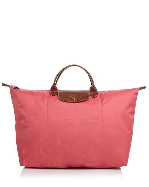 Longchamp - Purple Le Pliage Nylon Travel Bag - Lyst