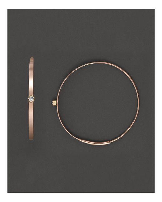 Lana Jewelry | Pink 14k Yellow Gold Small Magic Hoop Earrings With Diamonds | Lyst