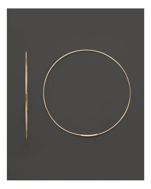 Lana Jewelry | Metallic 14k Yellow Gold Large Magic Hoop Earrings | Lyst