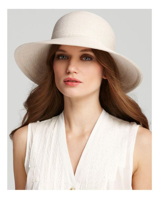 Eric Javits - Natural Packable Squishee Iv Short Brim Sun Hat - Lyst