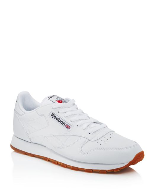 61bfb74a477 Reebok Men s Classic Leather Sneakers in White for Men - Save 3% - Lyst
