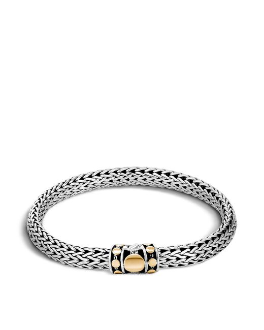 John Hardy | Metallic Sterling Silver And 18k Bonded Gold Dot Medium Chain Bracelet | Lyst
