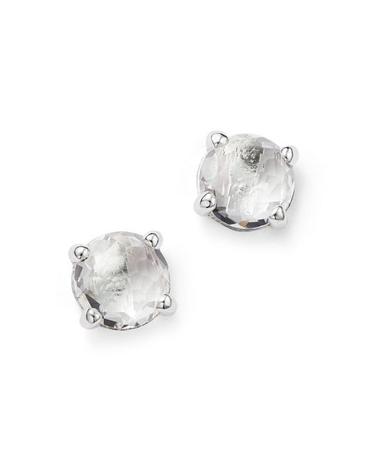 Ippolita - Metallic Rock Candy® Sterling Silver Mini Stud Earrings With Clear Quartz - Lyst