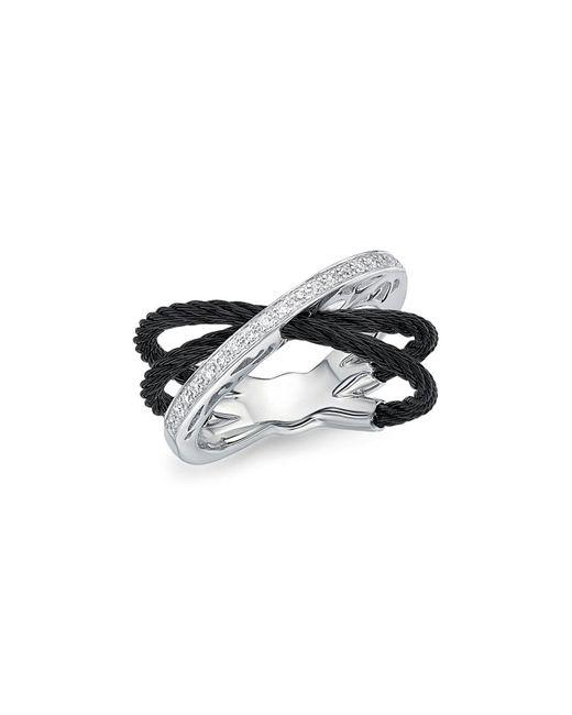 Alor   Black Diamond Multi-band Cable Ring   Lyst