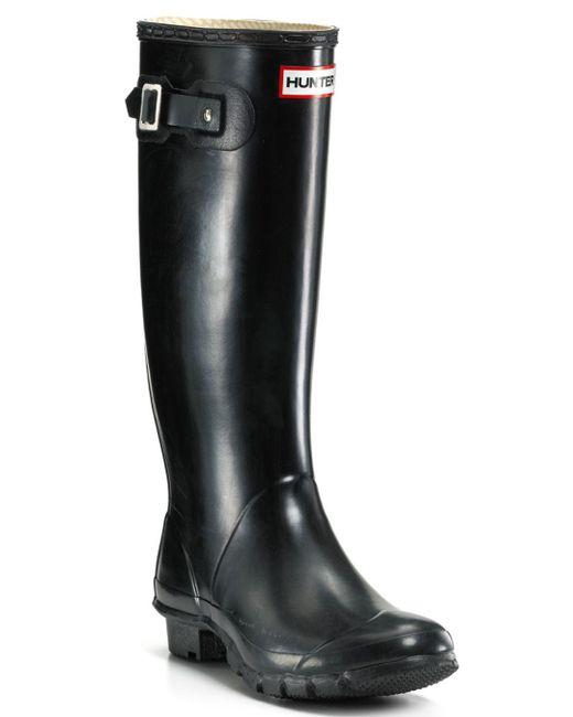 Hunter - Black Huntress Extended Calf Rain Boots - Lyst