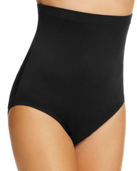 Miraclesuit - Black Solid Super High Waist Tankini Bottom - Lyst