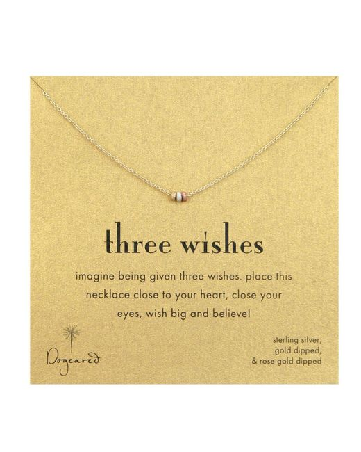 Dogeared | Multicolor Three Wishes Necklace, 18"