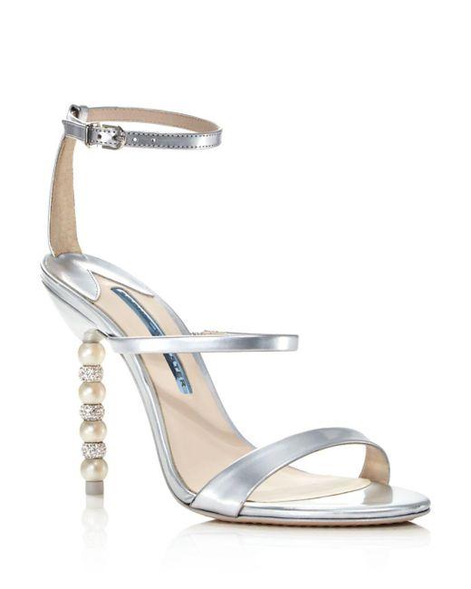 96ad4efc66c Sophia Webster - Metallic Women s Rosalind Crystal   Pearl Embellished High- heel Sandals ...