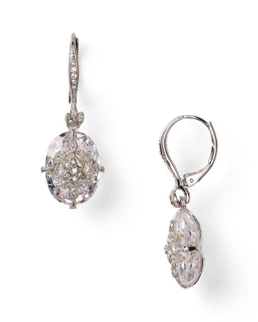 Nadri | Metallic Pave Drop Earrings | Lyst