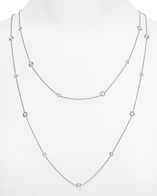 "Nadri | Metallic Bezel Chain Necklace, 16"" | Lyst"
