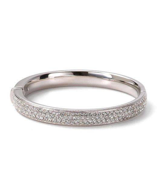 Nadri | Metallic Pave Flat Banded Bangle | Lyst