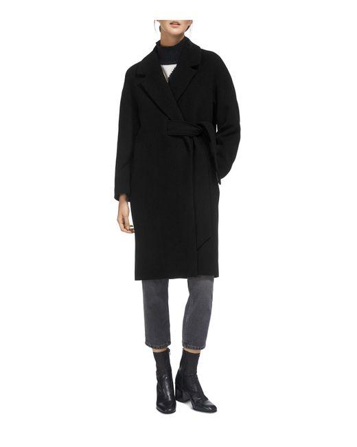 Whistles - Black Magdelina Belted Coat - Lyst