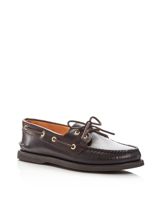 Sperry Top-Sider | Black Men's Gold Cup Authentic Original Two-eye Leather Boat Shoes for Men | Lyst