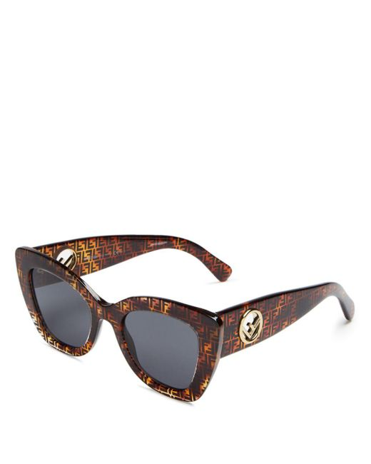 Fendi - Brown Women's Cat Eye Sunglasses - Lyst