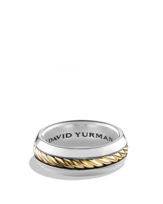 David Yurman - Metallic Cable Classics Ring With 18k Gold for Men - Lyst