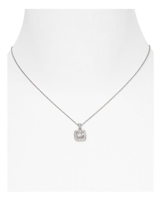 Nadri | Metallic Framed Cushion Pendant Necklace, 16"