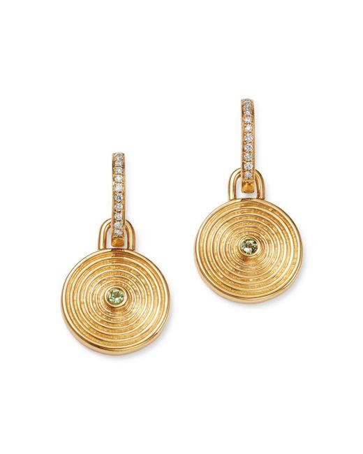 Kiki McDonough - Metallic 18k Yellow Gold Fantasy Green Amethyst & Diamond Small Drop Earrings - Lyst