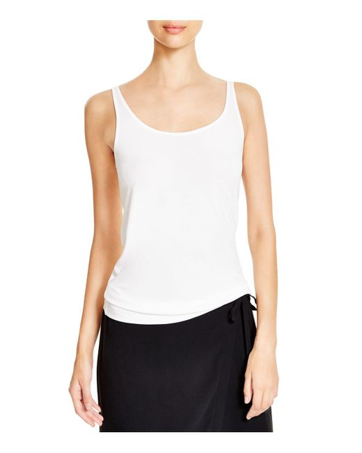 Eileen Fisher - White System Scoop Neck Long Silk Cami - Lyst